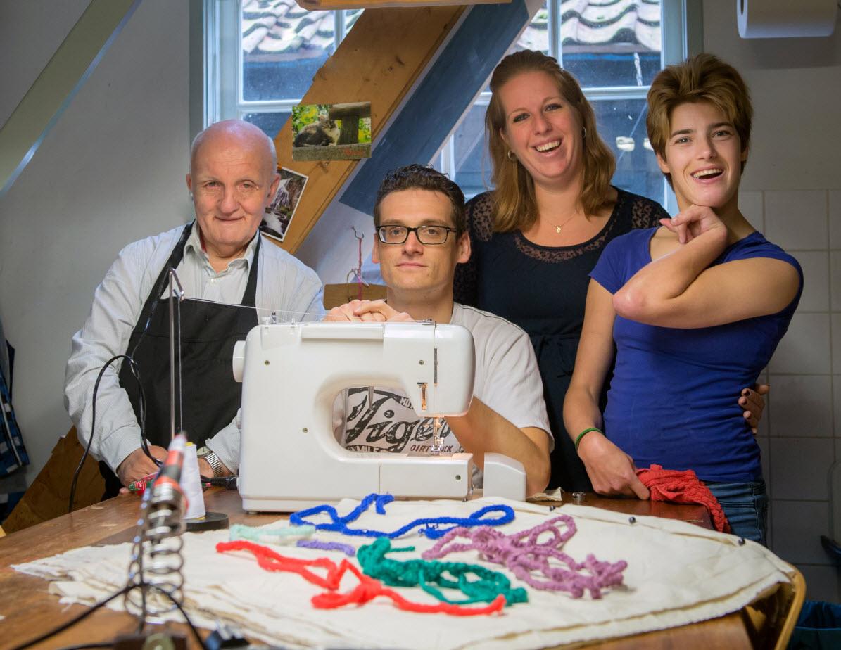 Broodzakken gemaakt door clienten van Weeshuis Monnickendam